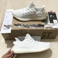 Wholesale Closed Looping - Cream White Boost 350 V2 New SPLY-350 Sports shoes All White Triple White 350 V2 Running Shoes Kanye West Sneakers Men Women