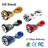 Wholesale Wholesale Electric Scooter Usa - USA Warehouse UL hoverboards Smart Balance Wheel 6.5 Inch Self Balancing Scooter Electric Scooters Wholesale Price Fast Free Shipping