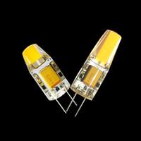 Wholesale Halogen G4 12v 5w - DC AC g4 COB 12v Led bulb Lamp SMD 3014 3W 5W 6W Replace 10w 30w halogen lamp light 360 Beam Angle