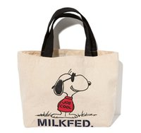 Kawaii Snoopy Cartoon Dogs Canvas Tote Bag Makeup Handbags Tote 19 * 18 * 9CM Kids Christmas Gifts