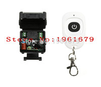 Wholesale Mini Remote Receiver Transmitter - Wholesale-AC 220 V 1 channel RF mini Wireless Remote Control 1 * Receiver & 1 * Transmitter 315 mhz or 433 mhz