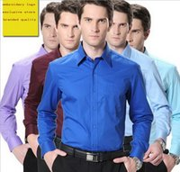 Wholesale man dress shirt office white collar formal business shirt button down shirt brand quality sizes colors