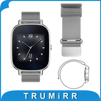 Wholesale pebble steel band - mm Milanese Loop Band Magnetic Buckle Strap for ASUS Zenwatch LG G Watch W100 W110 W150 Pebble Time Stainless Steel Bracelet