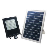 Wholesale ip55 floodlight resale online - 120 LEDs SMD LED Solar Light V W Solar Panel Motion Sensor LED Floodlight for Indoor Outdoor