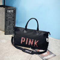 Wholesale Hot Women Design Travel Duffle Bags Large Capacity PINK Sequins letters Luggage Bag Yoga Fitness Shoulder Bag Waterproof Beach Totes Fashion