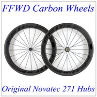 Wholesale Matte Decals - FFWD 2017 Black Decals Full Carbon Bike Wheels 60mm Depth 23mm With 3K Matt Wheels Carbon Novatec 271 Hubs 20 24 Black Spokes