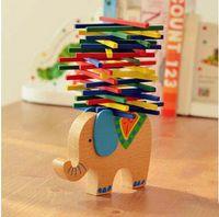 juguetes alemanes al por mayor-German Hot Balace Toys Kids Elefante de madera Camel Eje de equilibrio Juego de padres e hijos Juguetes de aprendizaje y educación para niños