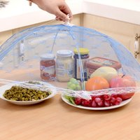 Wholesale Table Food Cover - New arrival Hexagon gauze Food Covers Umbrella Style Anti Fly Mosquito Kitchen cooking Tools meal cover table mesh food cover