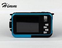 Wholesale Dual Cmos Sensor - Newest HD Double Screen 5M Waterproof Camcorder 16X Zoom 1920x1080 24MP pixels CMOS sensor Digital Camera DVR Video recorder