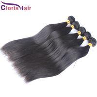 Wholesale Wholesales Remi Hair - Decent Quality Soft Eurasian Hair Weaves Silky Straight Unprocessed European Remi Human Hair Extensions 3pcs Cloris Hair