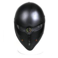 vollgesichts-paintball-maske großhandel-Neues Design Sport Outdoor Kohlefaser Tactical Combat Grey Fox Vollmaske, Paintball Schutzmaske Hood zum Verkauf