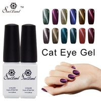 Atacado- Saviland 1pcs Magnetic UV / LED Cor Gel Verniz UV Uña Gel Top Gel e Base Coat Cat Olho Nail Gel Polonês