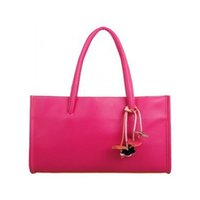 Wholesale Stylish Lady Leather Bag - Wholesale- 2016 nice Fashion Leather Women Message Bags Candy Color Gilrs Tote Bag Ladies Elegant Handbag Stylish Women Bag Free Shipping