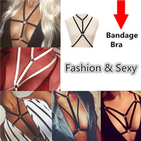 Wholesale Body Chain Jewelry Parties - High Quality Body Chain Harness Beach Belly Jewelry Bikini Elastic Body Chains Necklace Bralette Chain Summer Cage Bar Party Bandage Bra