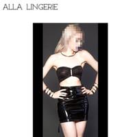 Wholesale Latex Mini Skirt - sexy Ladies pvc skirt Zipper up Side latex Leather Mini skirt Clubwear sexy Bodycon mini skirt leather zipper wetl ook