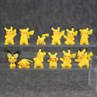 Wholesale Pikachu Ornament - 12 Styles Pikachu Cartoon Super Cute Pikachu Toys Mini Style Anime Cartoon small ornament 1.5-3.2cm