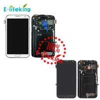 Wholesale Display Galaxy Note Ii - LCD For Samsung Galaxy Note 2 II N7100 N7102 N7108 N719 N7105 L900 I605 LCD Display Touch Screen Digitizer with Frame Assembly