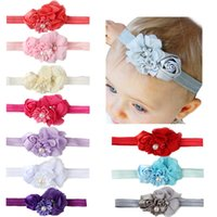 Wholesale Rose Cashmere - New hot hair with the hair of children in Europe and America combined rose floral plus pearl baby ornaments wholesale