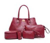 Wholesale Winter Women Dresses Korean Fashion - Autumn and winter new Korean fashion crocodile pattern handbags leisure pu shoulder five sets of women's bags high-end boutique LH8810