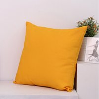 Wholesale Trendy Wholesale Embroidery - 16x16 inches trendy plain color cotton canvas pillow case plain pillow cover embroidery blanks solid color cushion cover