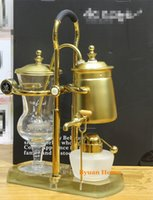 Wholesale Royal Coffee Balance - Classic gold silver hourglass water drop Royal balancing siphon coffee machine belgium coffee maker syphon vacumm coffee brewer