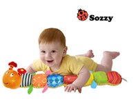 Wholesale Caterpillar Music Toys - America SOZZY multi-function music caterpillar music rattles Baby Learning Education Toys high quality ship by dhl