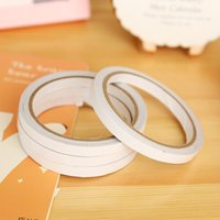 Wholesale Adhesive Sticky Glue Tape - Wholesale- 2016 10pcs Super Slim Strong office adhesive Double Sided Sticky Tape White Powerful Adhesion stationery transparent glue