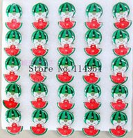 Atacado-25 pcs / lot Watermelon Girl kids cartoon broche LED, broches de iluminação com pin p-22