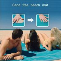 Wholesale Camping Tarps - 3 Colors Sand Free Mat Blanket Camping Mat Outdoor Picnic Foldable Mattress Camping Cushion Beach Mat 200*150cm CCA6387 50pcs