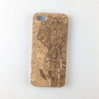 Wholesale Wood Cork Case - U&I ® Luxury Cork Wood Case for Apple IPhone Laser Engraved Mobile Cover Shell Cell Phone Protector Cases