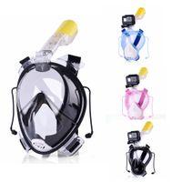 Wholesale Diving Equipment Set - Seaview 180° Scuba Diving Snorkel Mask Set Equipment, Anti-fog Anti-Leak Full Face Snorkeling Masks Gear for Adults Kids