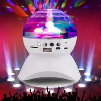 Wholesale Disco Ball Mobile Phone - Rotating Magic Ball Speaker Light with Wireless Bluetooth Speaker Mini Card Slot Rotating for KTV Xmas Party Club Pub Disco DJ