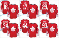 Wholesale 2017 New Toronto Maple Leafs Auston Matthews Mitchell Marner Wendel Clark Rielly Nylander Red Alternate Stitched Jerseys