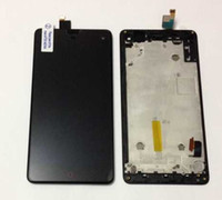 Wholesale Display Zte - Wholesale- Original new LCD screen display+touch digitizer with frame For ZTE Nubia Z7 mini NX507J black free shipping