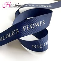Wholesale Wholesale Printed Ribbon Suppliers - Free design 5 8''(16mm) grosgrain ribbon suppliers printed brand ribbon logo by yourself for wedding favors 100yards lot