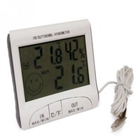 Wholesale 1Pc Digital LCD Thermometer Hygrometer Indoor Outdoor Max Min Temperature Humidity