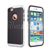 case carbon - MOTOMO Cases PC TPU Hybrid Armor Case Anti Knock Carbon Fiber Cover For iPhone S Plus Samsung S7 Edge Note J5 J7