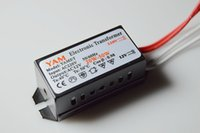 Wholesale Electronic Transformer For Led - 1 Piece Only, 20-160W 50 60Hz LED Lamp Driver Power Supply Converter Electronic Transformer AC220V In AC12V Out for G4 Halogen Lamps