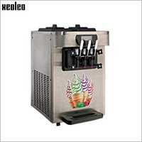 Wholesale Ce Cream Maker - XEOLEO Commercial Soft Ice Cream Machine 1600W 220V Ice Cream Maker 18L H 3 Flavors Yogurt Ice Cream CE Yogurt Machine R22