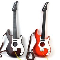 Wholesale Class Guitar - Small plastic simulation guitar four strings can be kicked kindergarten stage performance children's musical instruments class toys