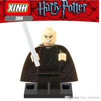 Wholesale Harry Potter Action Figures Wholesale - Wholesale 10pcs Star Wars Super heroes Marvel Avengers Harry Potter Lord Voldemort action mini Figures Building Blocks Brick toy