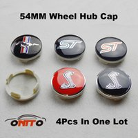 Wholesale mustang covers - 4 20 100 500pcs 54mm Car Wheel Hub Cap Wheel Logo Cover ABS for ford ST Shelby mustang logo car emblem caps FOR kuga fusion fiesta transit