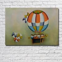 Wholesale Child Cartoon Picture Frame Paintings - Cartoon Wall Pictures Modern Abstract Children Paintings on Canvas Wall Pictures For Living Room Cheap Oil Painting No Framed