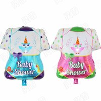Wholesale Large Baby Boy Balloons - 50 pcs Baby shower Girls boy Baby Clothes Balloon Large Size birthday party gift decoration