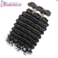 Wholesale Natural Hair Dry - Long Life Human Hair Deep Wave Brazilian Virgin Hair Can Be Iron Properly, Dyed, Bleached, NO Dry, No Tangle After Installment