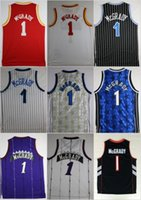 Wholesale Cheap Jerseys T Shirts - Throwback Tracy McGrady Basketball Jerseys #1 T-Mac Tracy McGrady Retro Stitched Basketball Shirts MENS Cheap Embroidery Jerseys S-XXL
