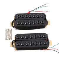 7 String Bridge Neck Guitar Pickup Set Double Coil Humbucker Black