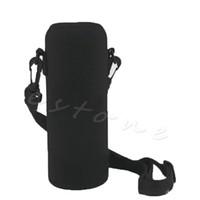 Wholesale Travel Water Bottle Holder - Wholesale- Hot 750ML Neoprene Water Bottle Carrier Insulated Cover Bag Holder Strap Travel Tool Bag