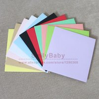 Wholesale Small Invitations Card - Wholesale- 50pcs 10*10cm small Color Paper Envelope Invitation Card Gift Envelope