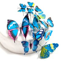 Wholesale Cheap Butterfly Cake Toppers - Wholesale-Cheap ! PVC Butterfly Wedding Cake Topper Wedding Cake Stand Wedding Decoration Cake Decorating Supplies